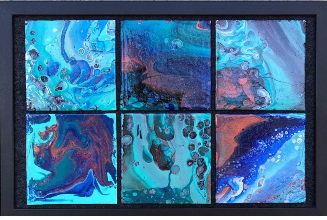 """Water on Europa"" Original Acrylic $80"