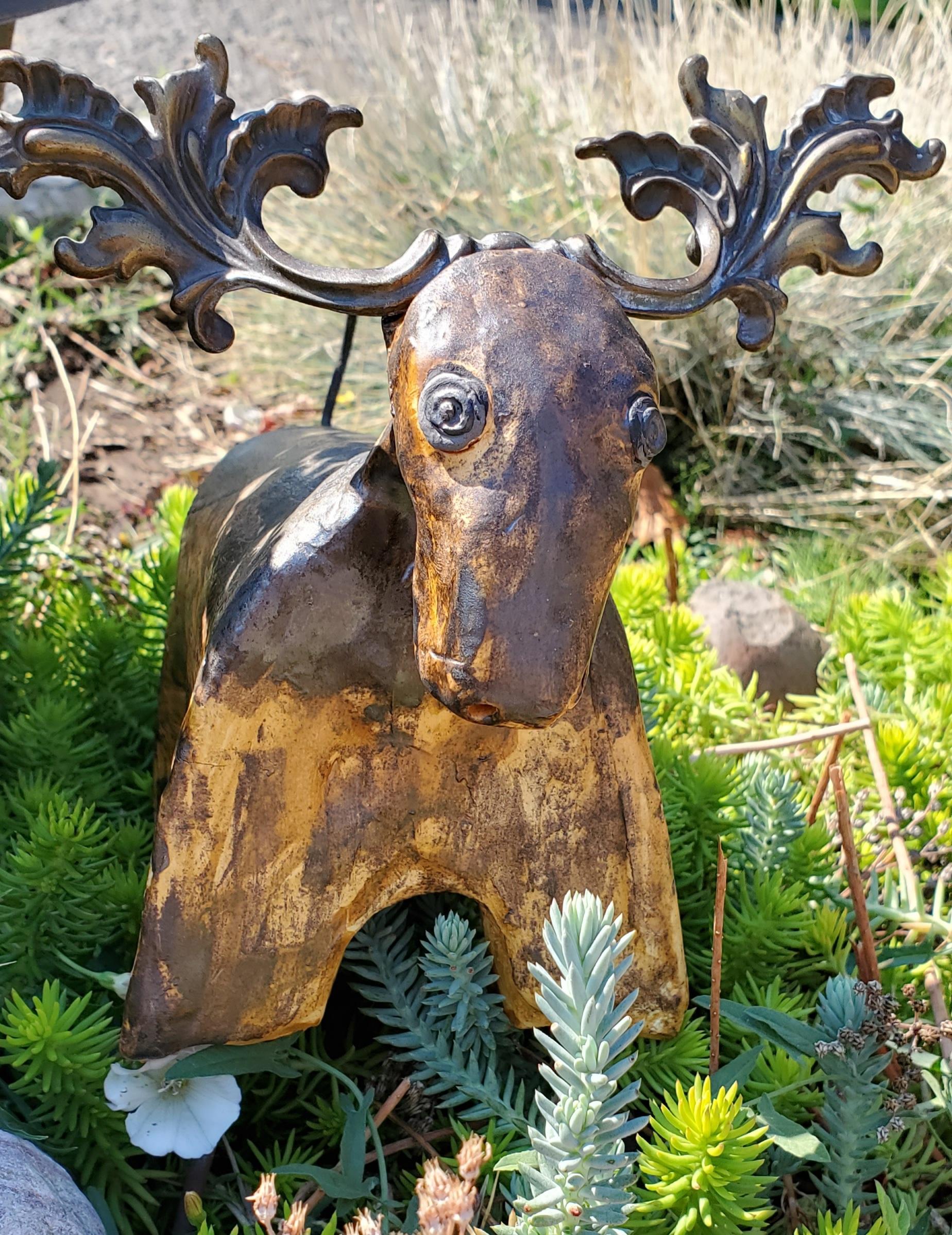 Caribou - ceramics - 8 x 9 - $35