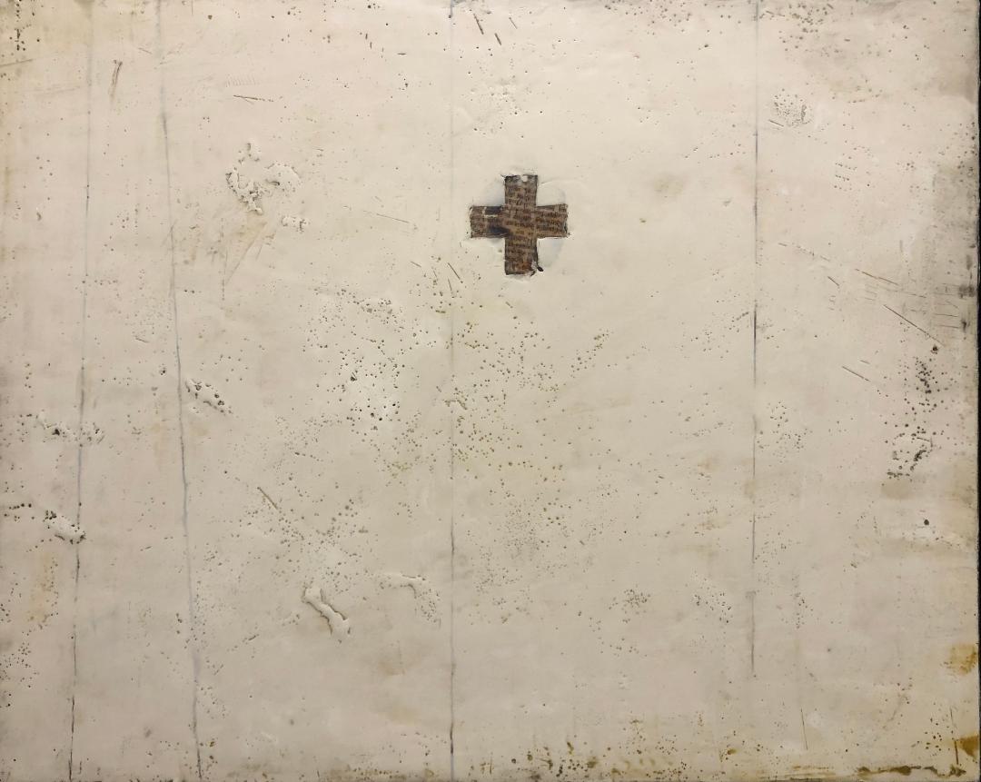 Crossroads - 16 x 20 - Encaustic
