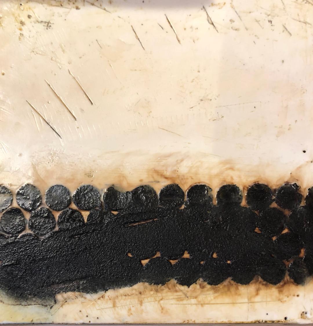 Decline of the Hive - 10 x 10 - Encaustic Mixed Media