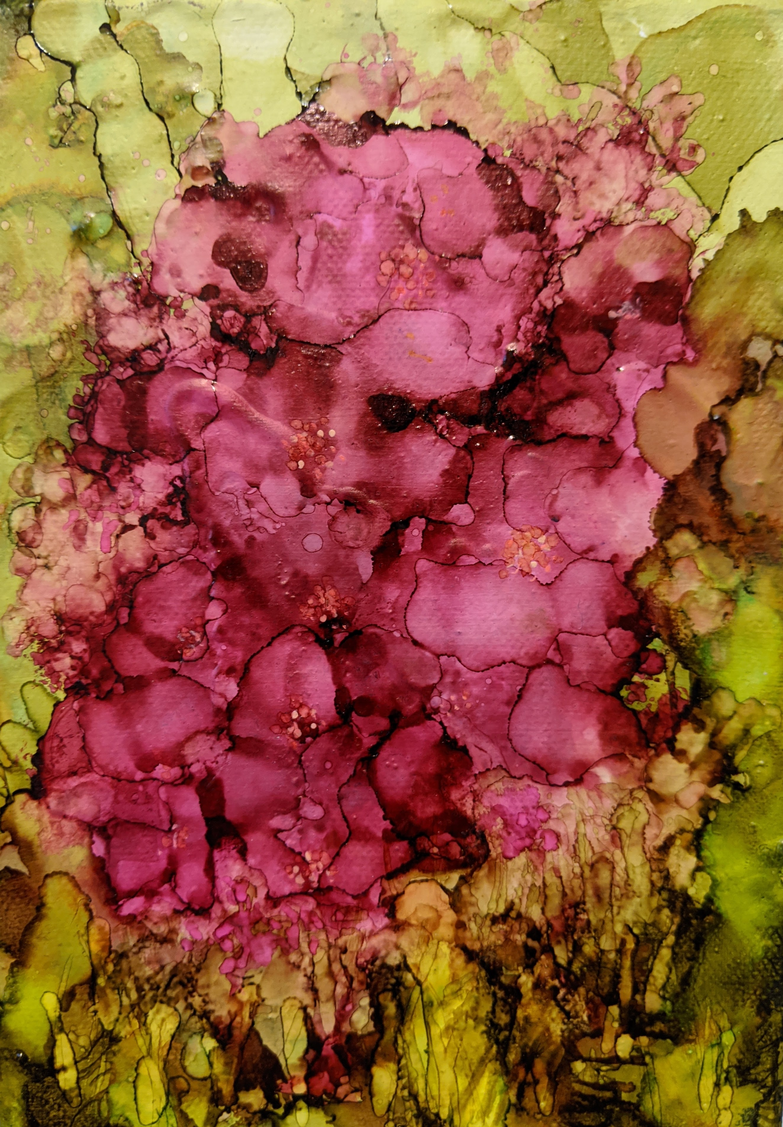 Petal Pink - 5 x 7 - Alcohol Ink