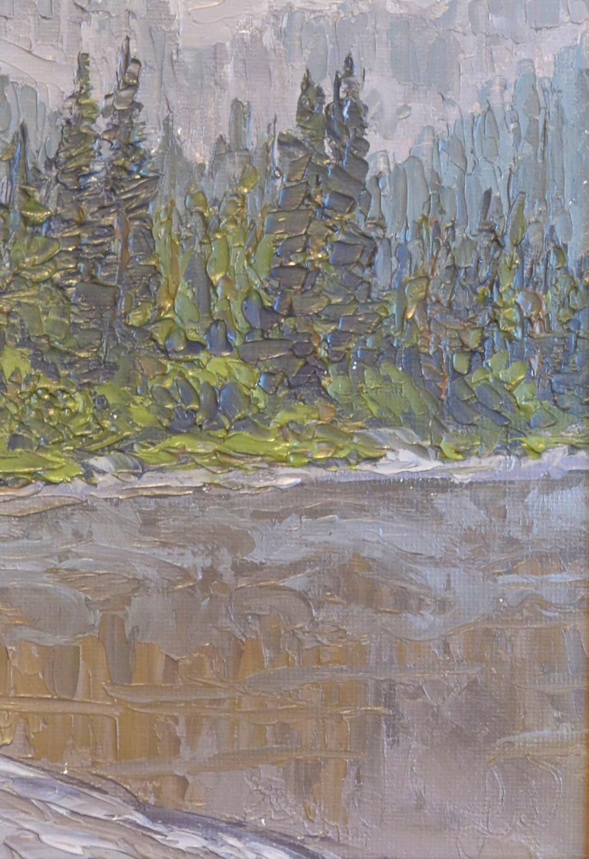 Foggy Lake - 5x7 - Oil on Canvas