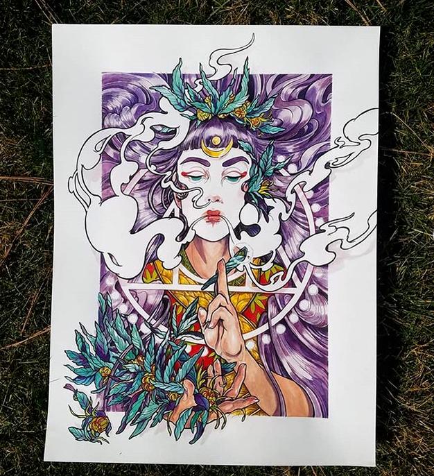 Transmutation - 18 x 24 - Gouache & Ink - $670