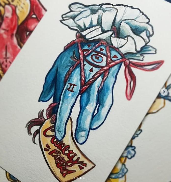 Pigs Feet 2 - 5 x 7 - Gouache & Colored Pencil - $75