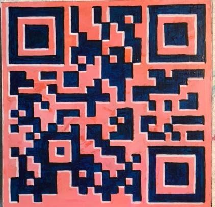 QR Code Block 1 - 6 x 6 - Acrylic - $350