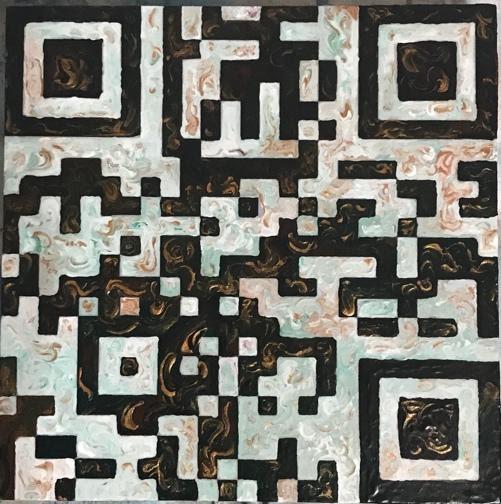 QR Code Block 2 - 6 x 6 - Acrylic - $350