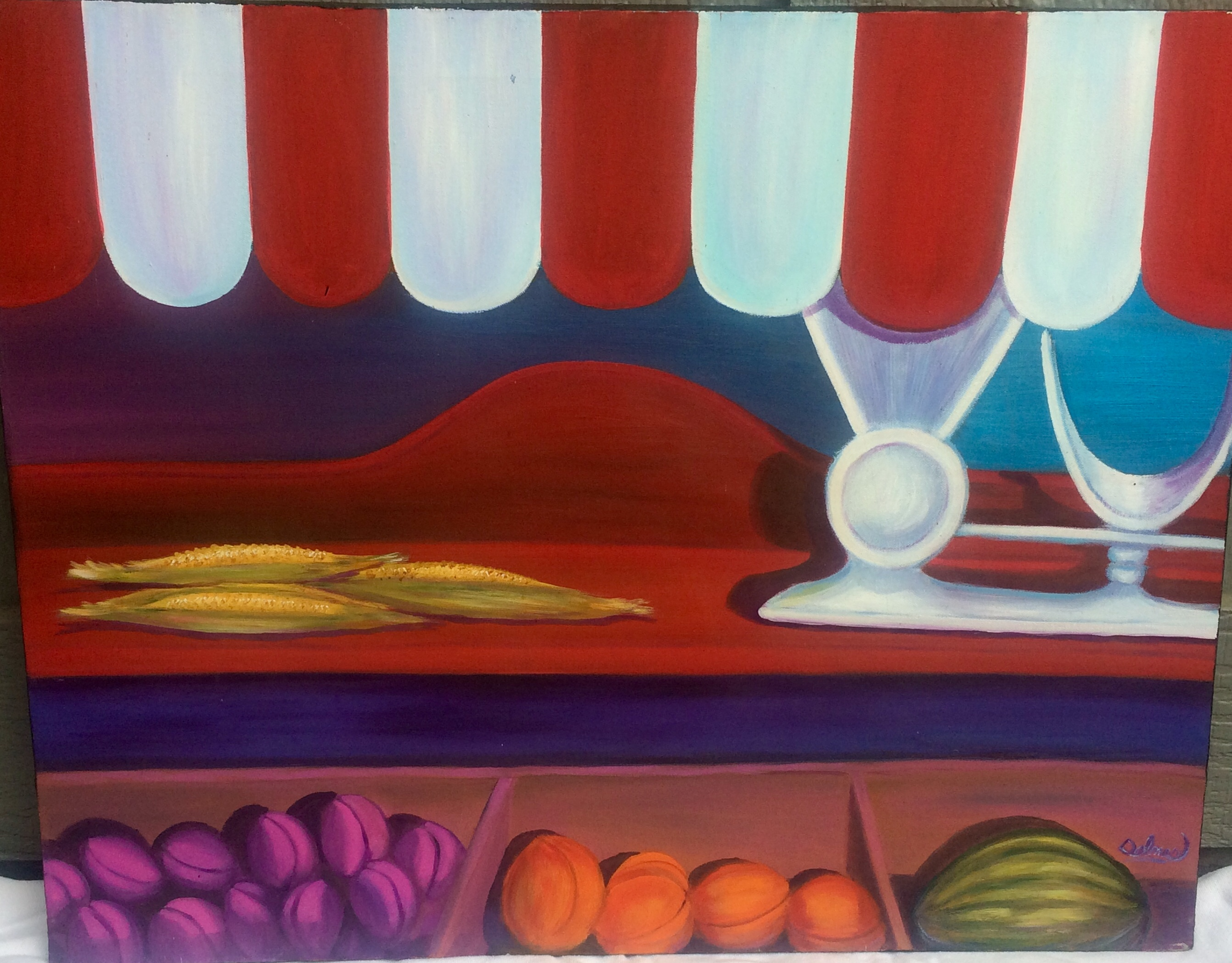 Morning Market - 30 x 24 - Oil on Canvas - $375