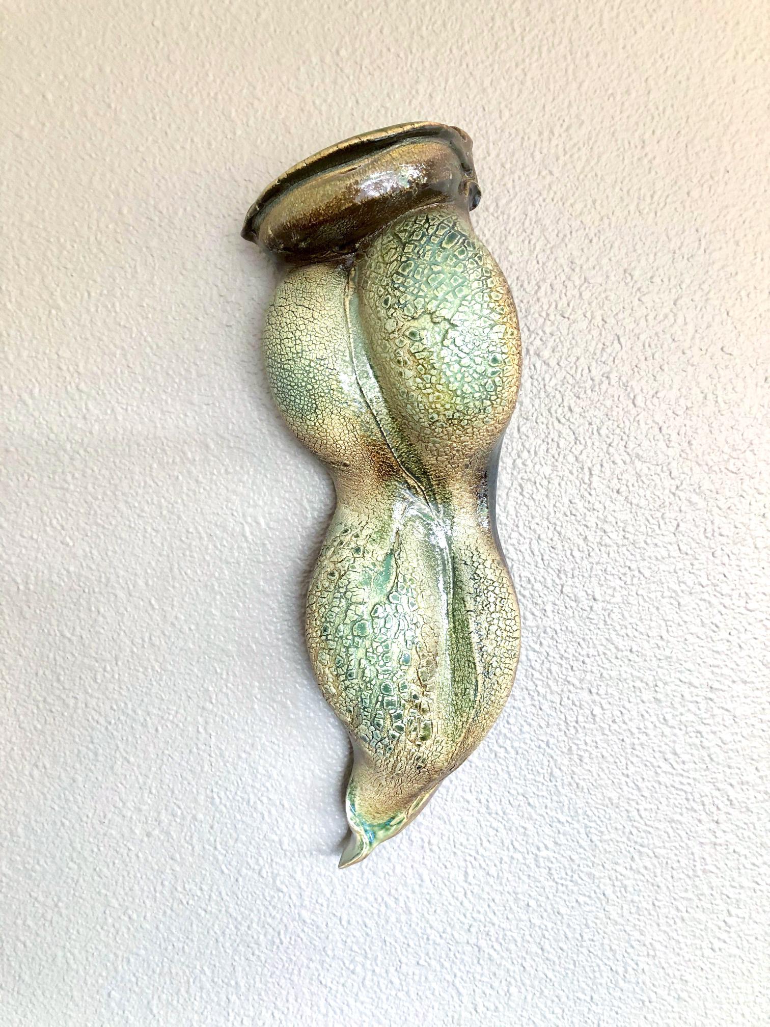 Moss Green Sconce - 16.75 x 5.5 x 3.5 - $225 - Stoneware
